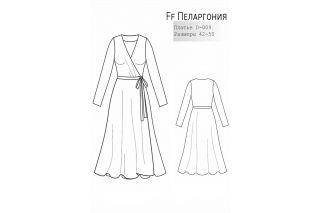 Платье на запах Пеларгония р-ры 42-50 D-009