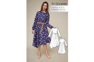 Платье с асимметричным низом Сетария р-ры 42-52 D-017