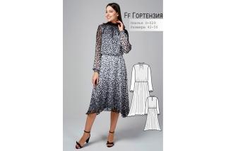 Платье Гортензия р-ры 42-50 D-029