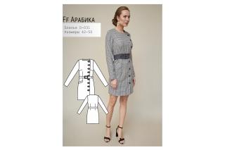 Платье Арабика р-ры 42-50 D-031
