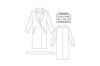 Пальто Гинура р-ры 40-52 O-007