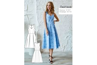 Платье с вырезом каре Лантана р-ры 42-50 D-027