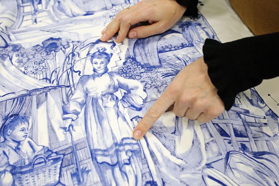 Направление узора на ткани