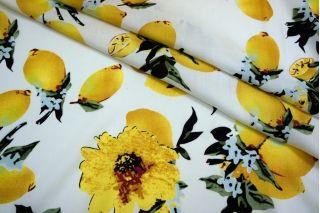 Штапель лимоны и цветы на белом BLP 19041730