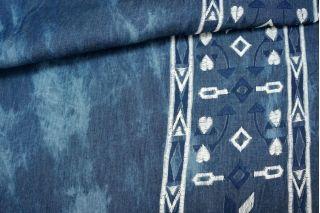 Плательная джинса с вышивкой PRT 22041709