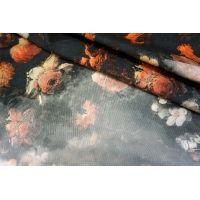 Микровельвет плательный хлопковый с принтом КУПОН  PRT 11031716